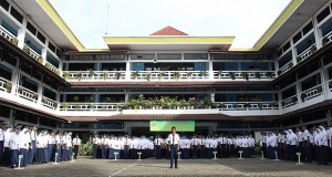 Upacara SMP Al Kautsar Bandar Lampung