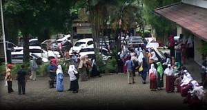 Suasana Tes Penerimaan Siswa Baru Kelas Unggul SMP Al Kautsar Bandar Lampung