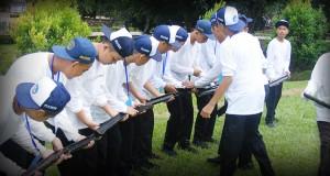 Game air dan pipa melatih kekompakan antar kelompok dan para peserta ODS