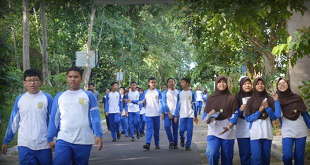 Jalan sehat SMP Al Kautsar-Unila