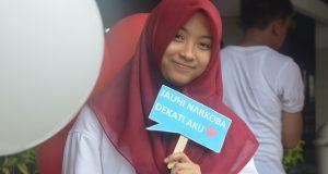 Adzkia Tiara Paradhita pada saat merayakan HUT RI di SMP Al Kautsar (17/8/2016)