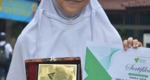 Nabila Aulia juara I Olimpiade Literasi Nasional