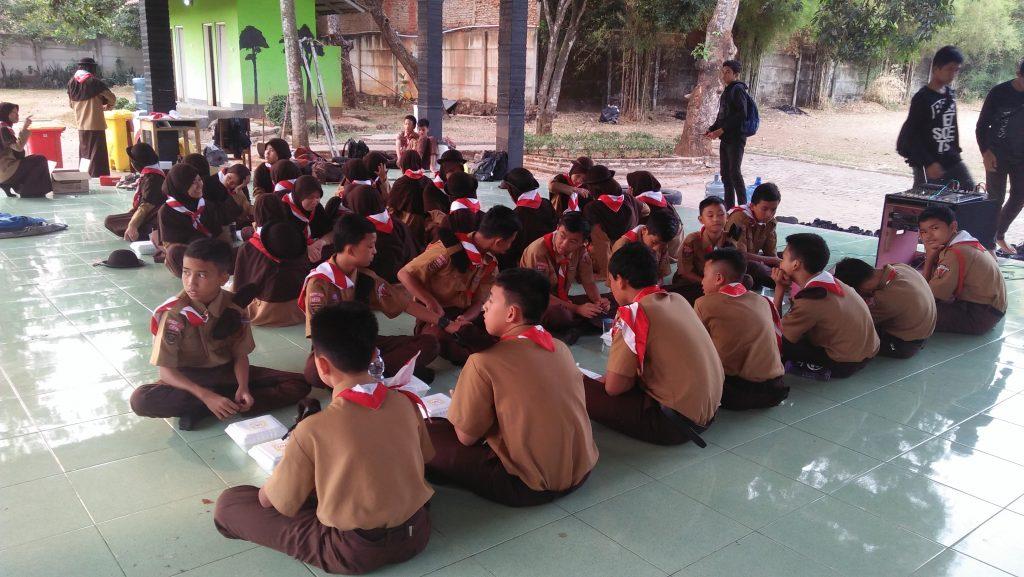 Materi Kepramukaan saat Perjusami SMP Al Kautsar